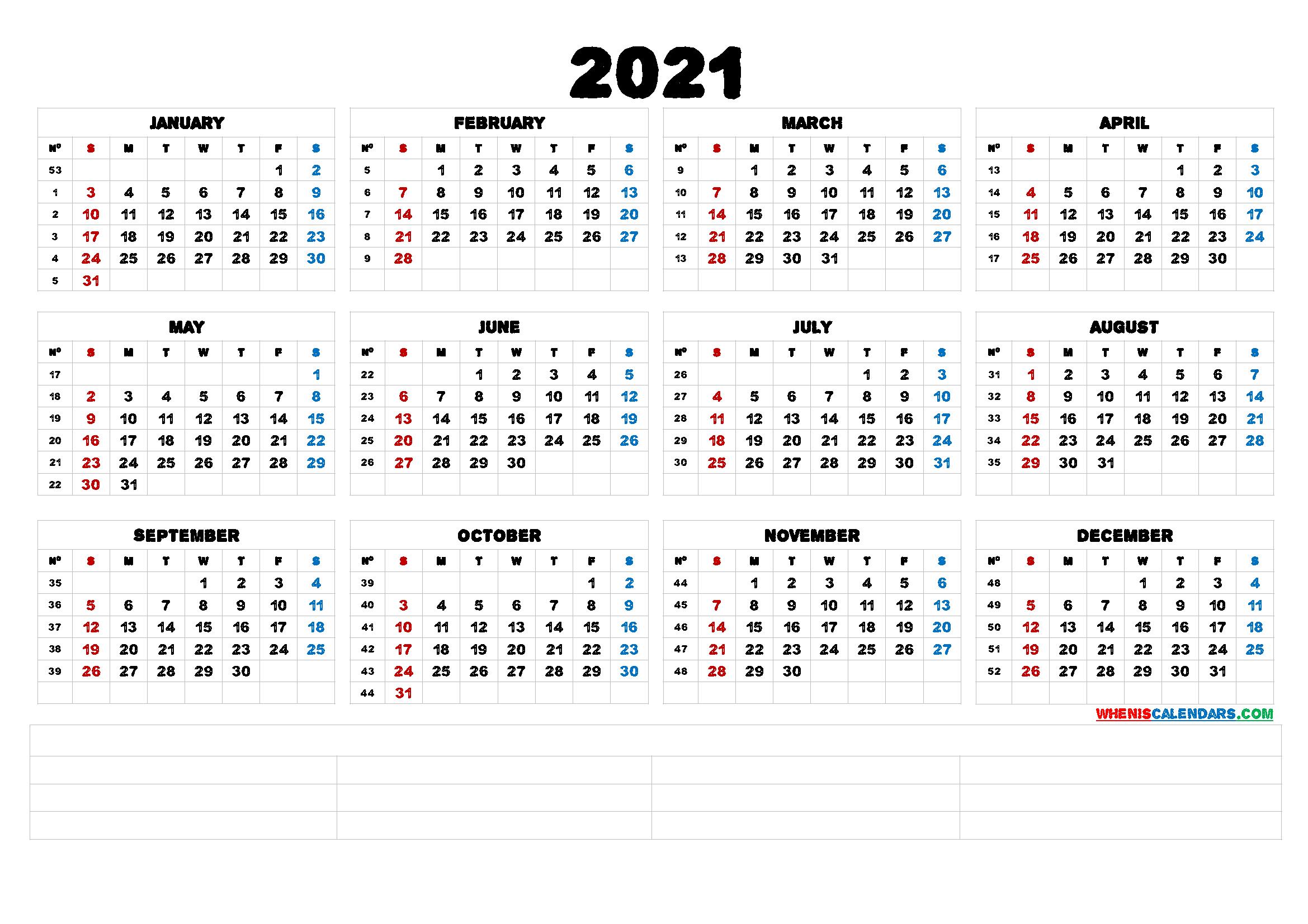 Printable 5 By 8 2021 Calendar : Printable 2021 Accounting
