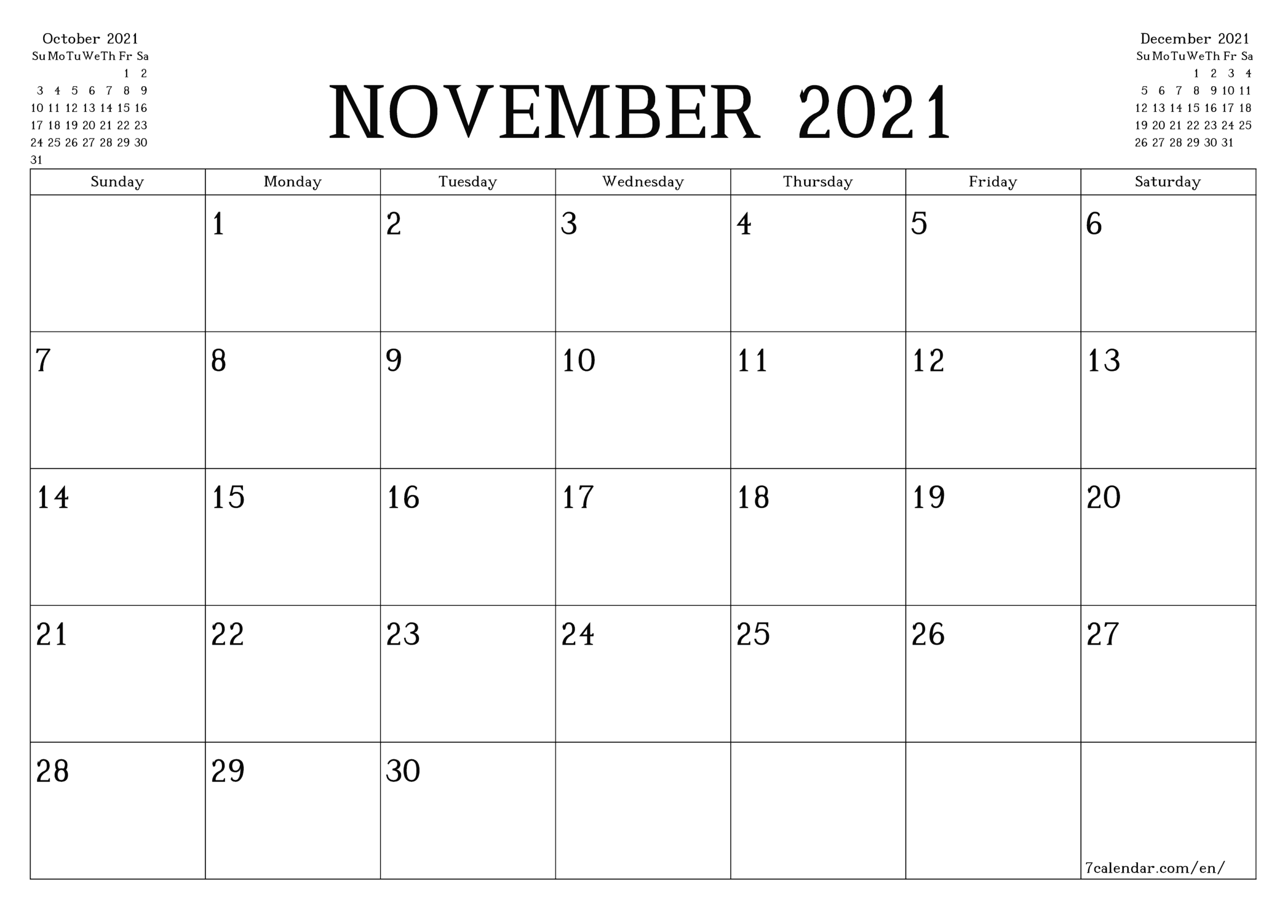 Printable Calendar 2021 Monthly | Printable Calendar 2021