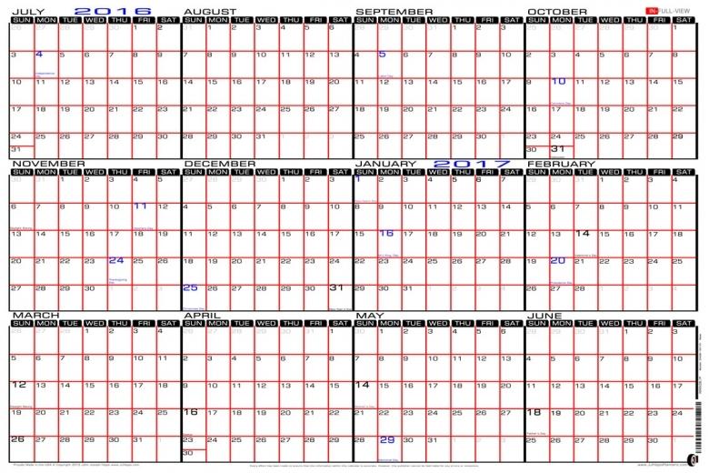 Printable Calendar Large Blocks :-Free Calendar Template