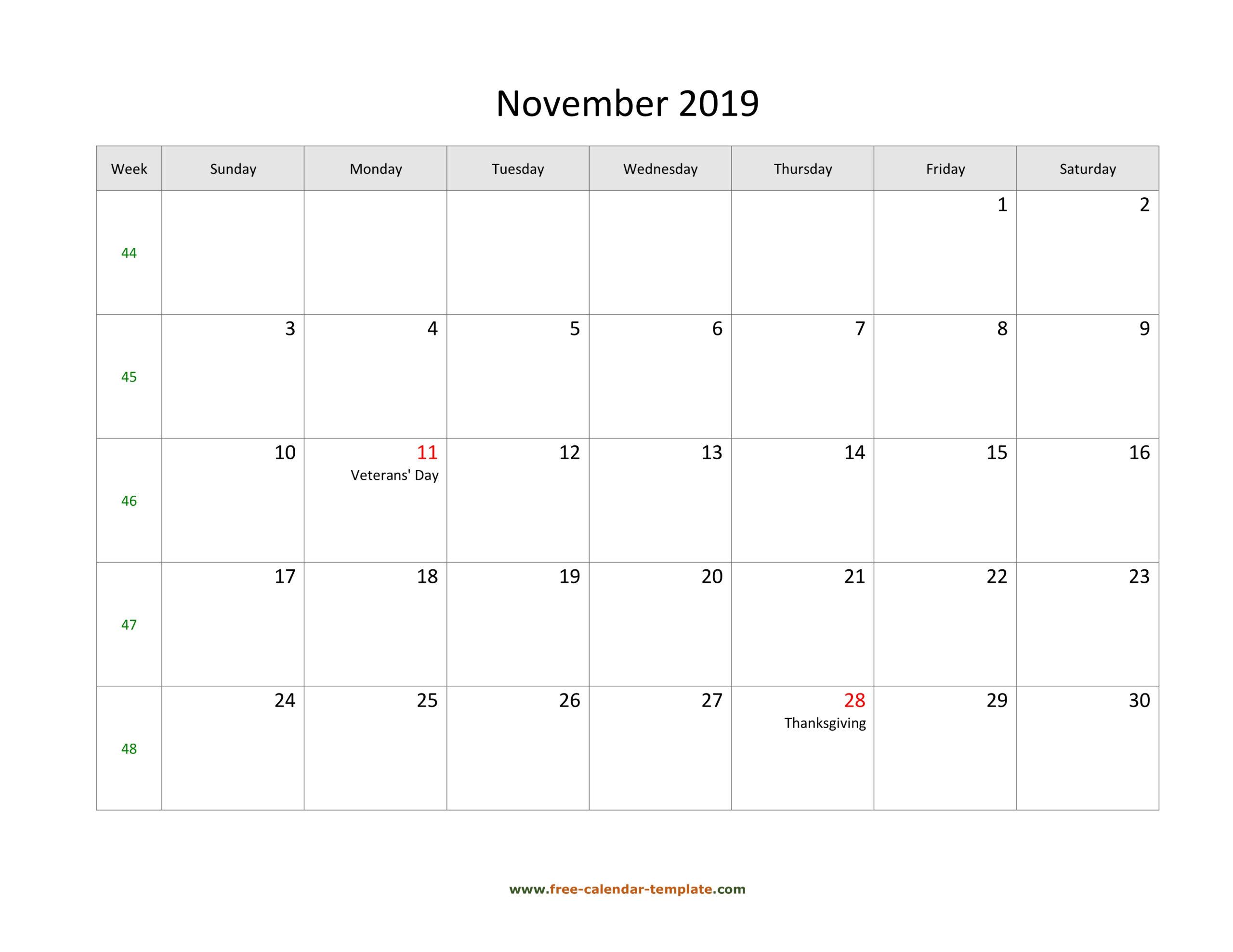 Printable Calendar Large Squares | Calendar Printables Free Templates