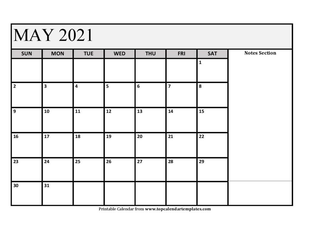 Printable May 2021 Calendar Template - Pdf, Word, Excel