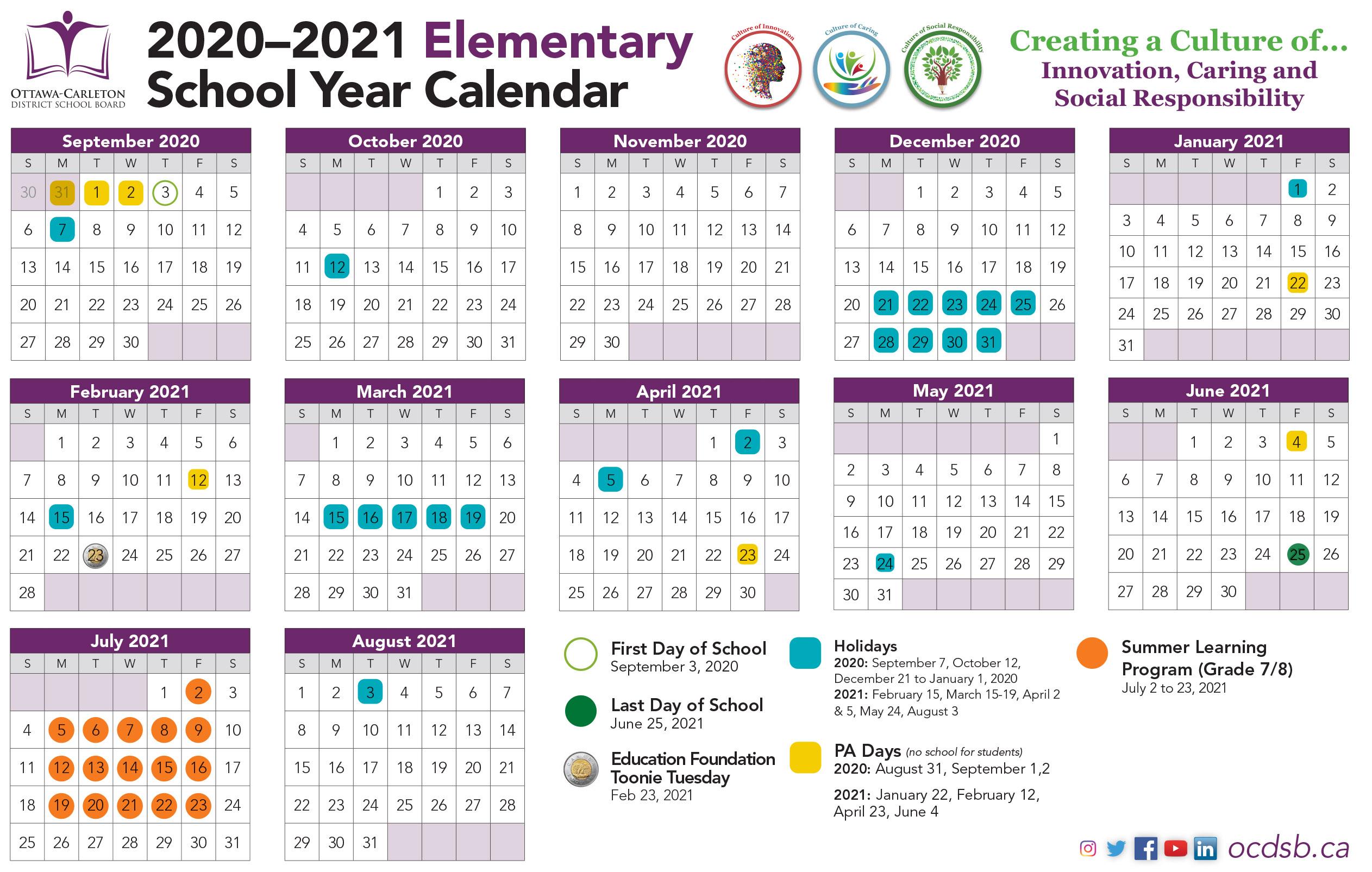 Public School Calendar 2021 | Printable Calendars 2021