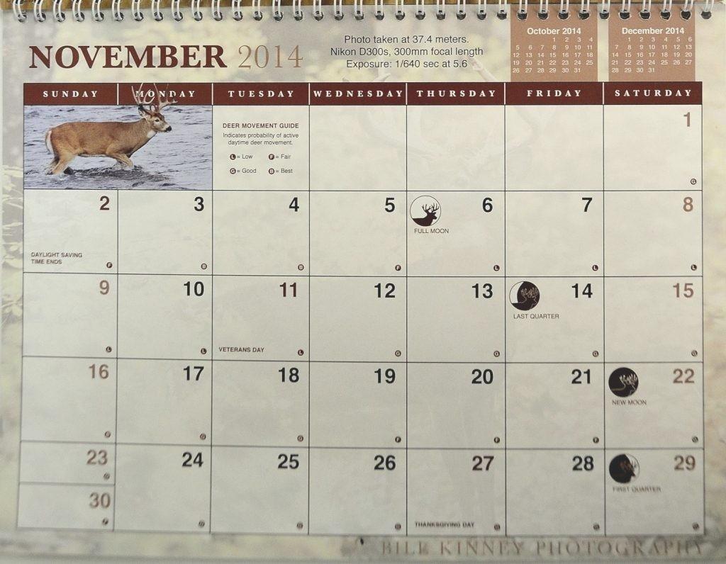 Rut Predictions For Michigan 2021 | Calendar Template