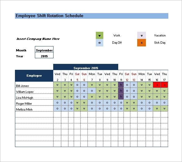 Shift Schedule Template 2021   Calendar Printables Free Blank