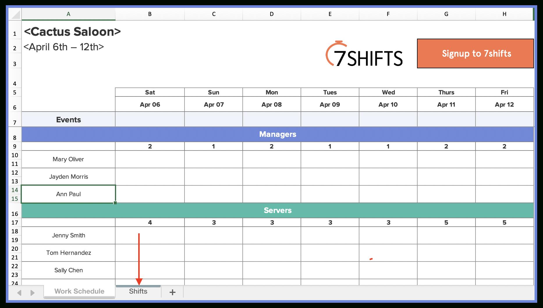 Shift Schedule Template 2021 | Calendar Printables Free Blank