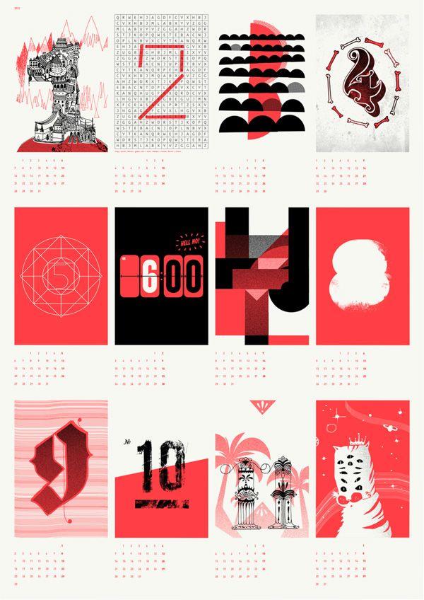 Upstruct Calendar 2013   Graphic Design Calendar, Calendar