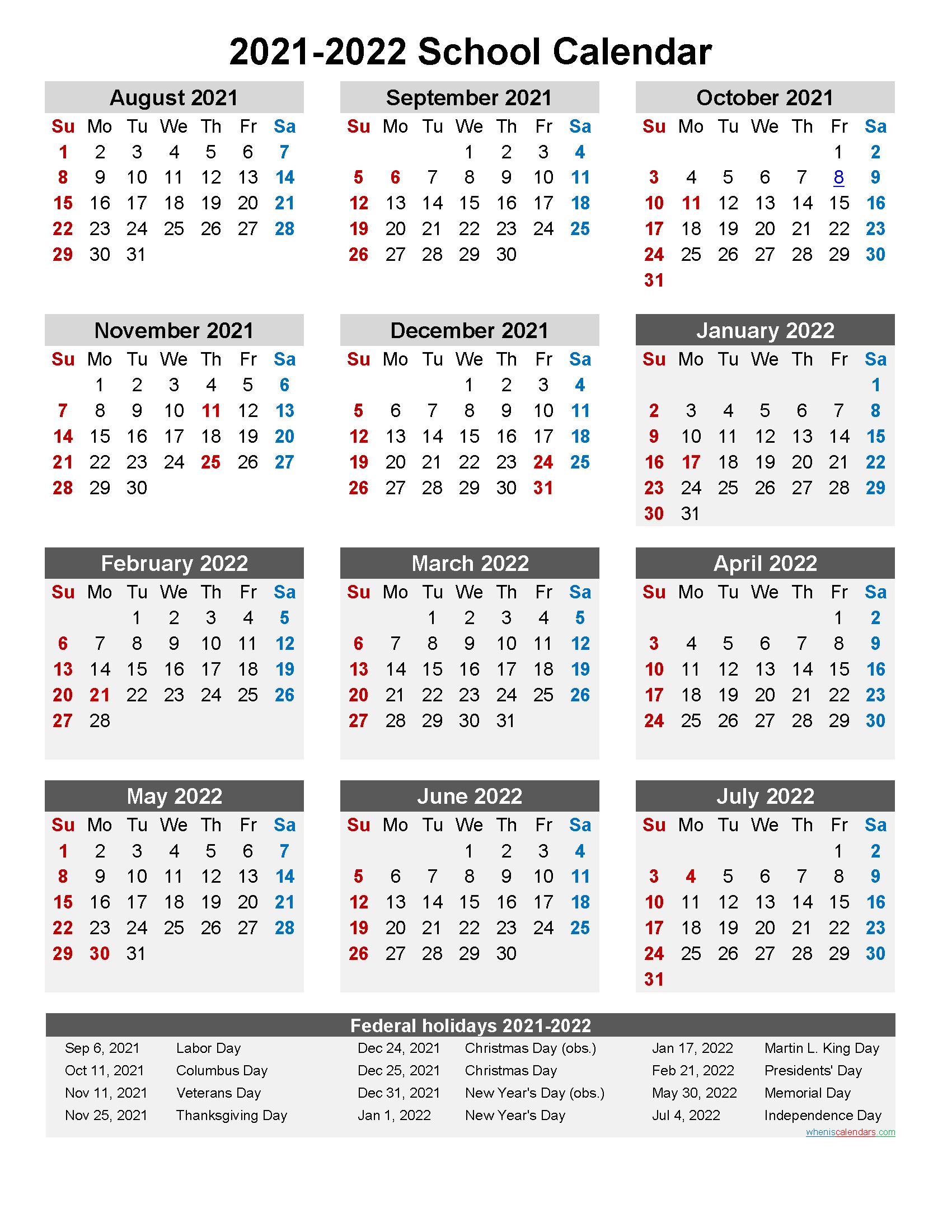Usd 261 Calendar 2021 2022 | Calendar 2021