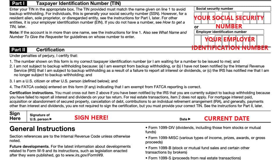 W-9 Form 2021 Printable: Free W 9 Form Printable Online | Download W-9 2021 Pdf