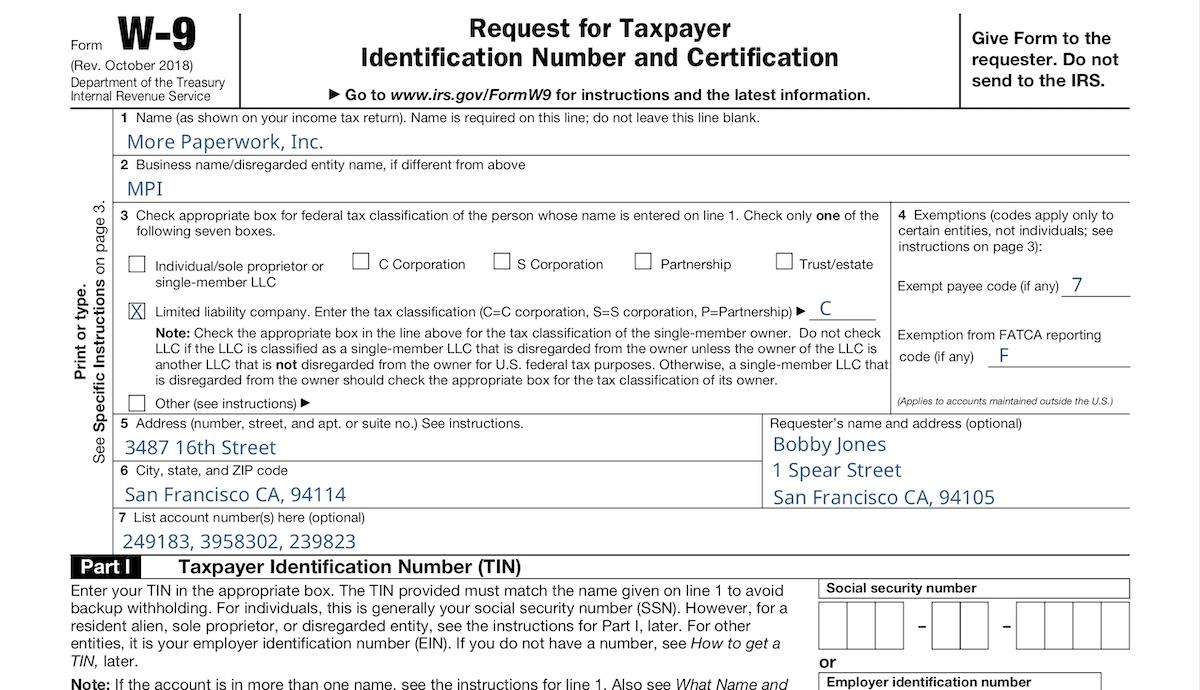 W-9 Form 2021 Printable Pdf Irs.gov   Calendar Printable Free