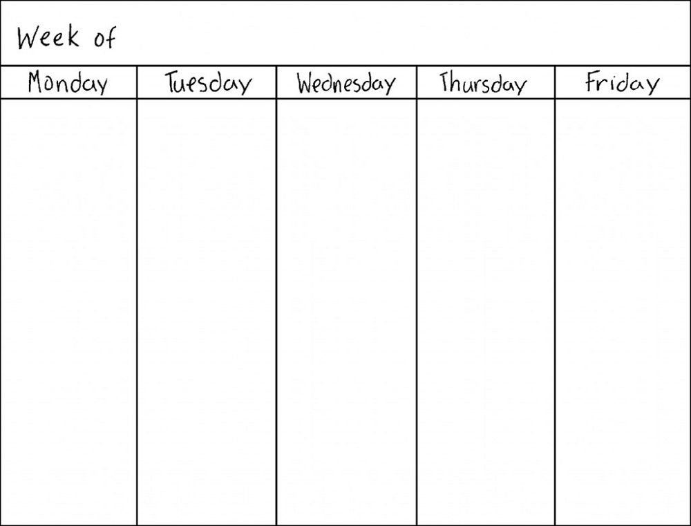 Weekly Calendar Printable Monday To Sunday Graphics