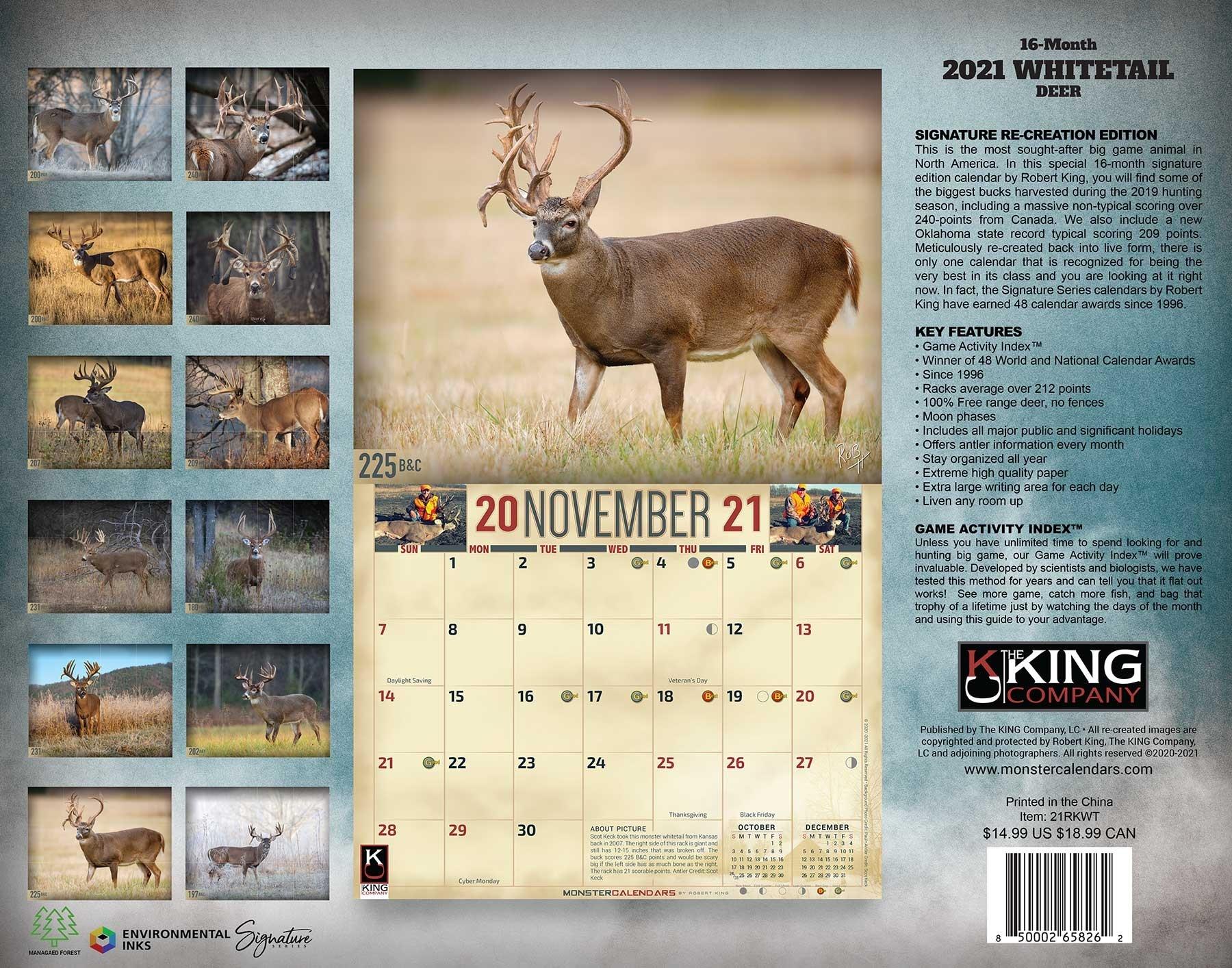 Whitetail Rut Calendar 2021   Calendar Template Printable