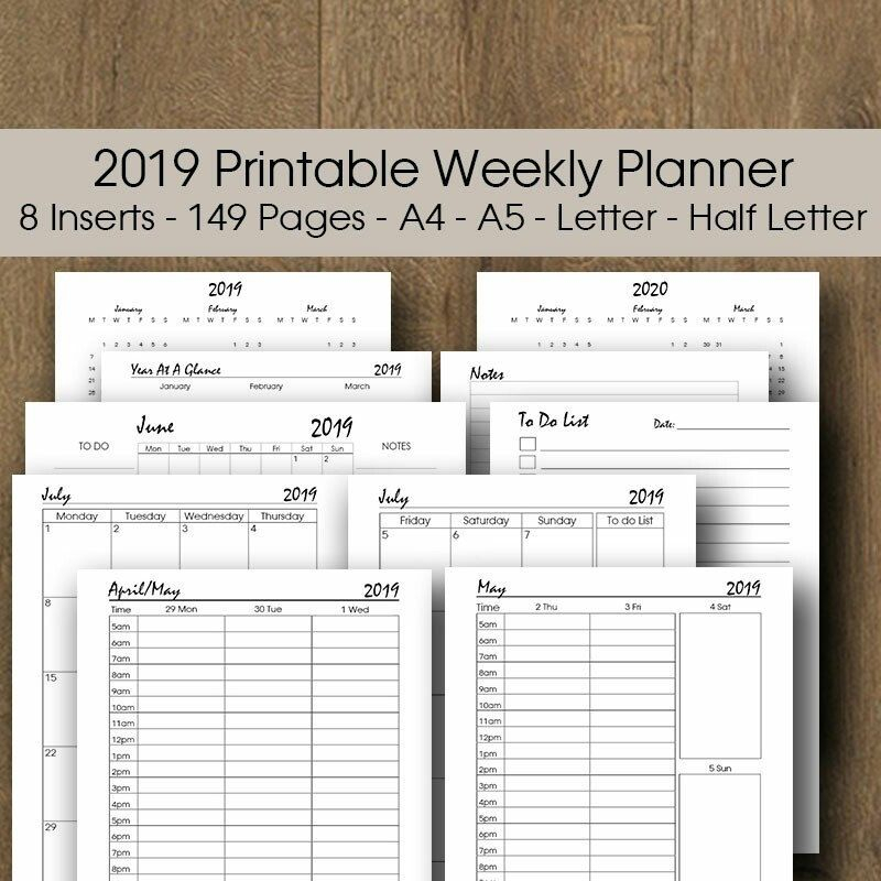 Year At A Glance 2021 Printable A3 A4 Letter Half Size
