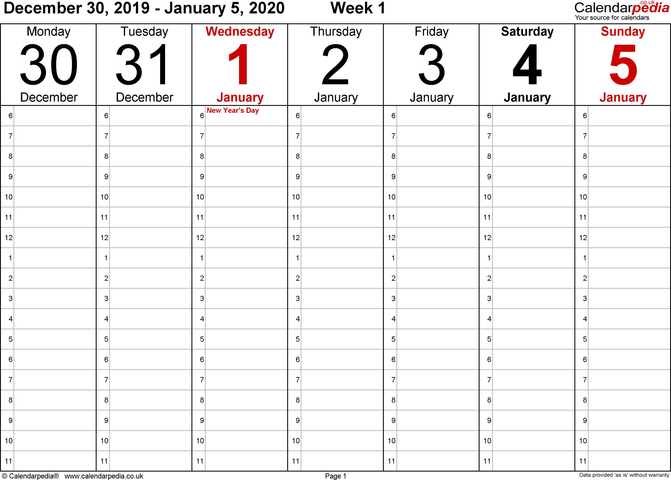 Yearly Week Number Calendar Excel   Calendar Printables