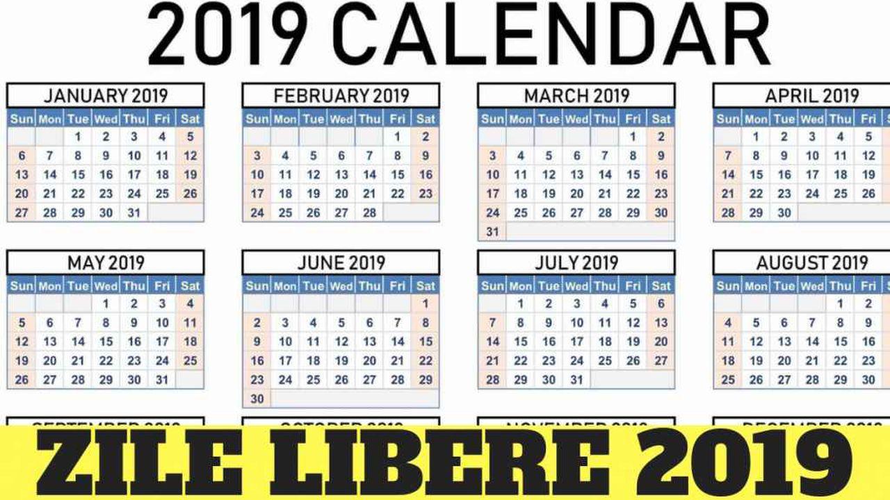 Zile Libere 2019. Veşti Proaste Pentru Români, Următoarea