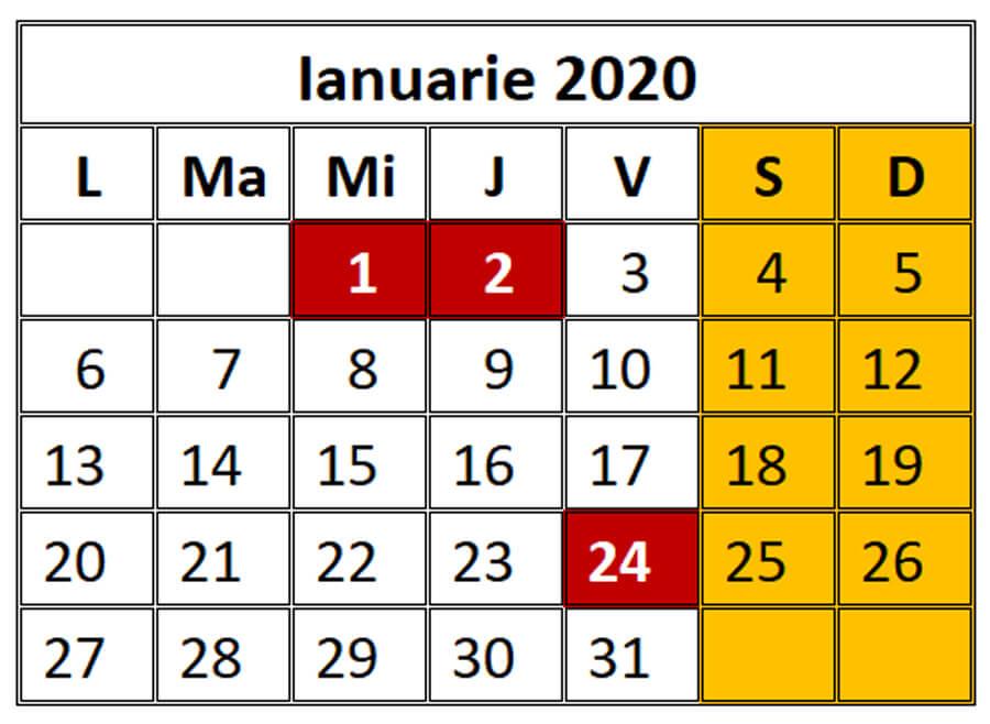 Zile Libere 2020 - Calendar Zile Libere Și Sărbători