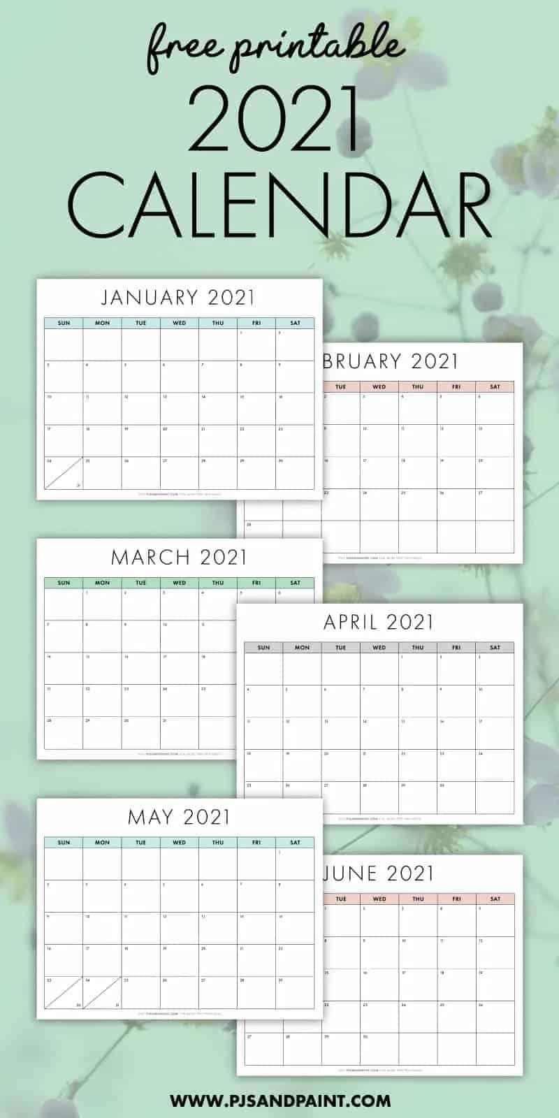 13 Cute Free Printable Calendars For 2021 You'Ll Love