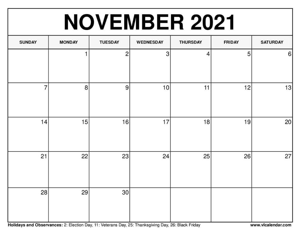 20+ Calendar 2021 Nov - Free Download Printable Calendar