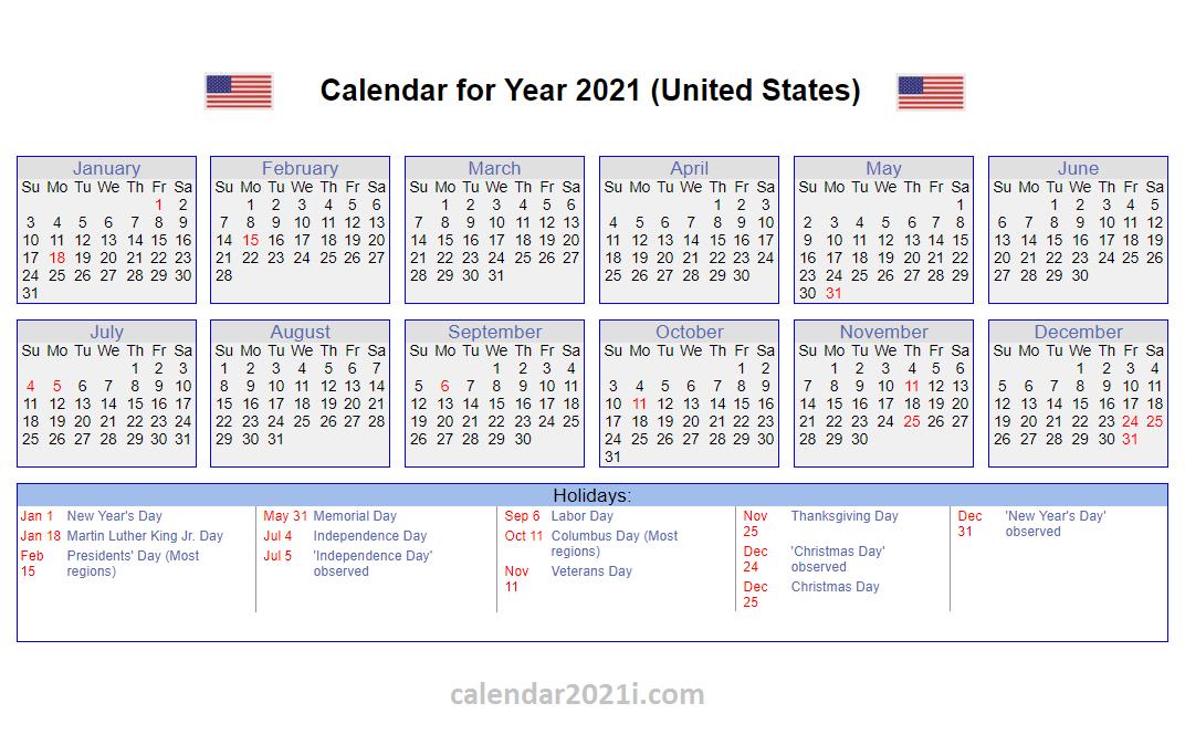 20+ Federal Holidays 2021 - Free Download Printable