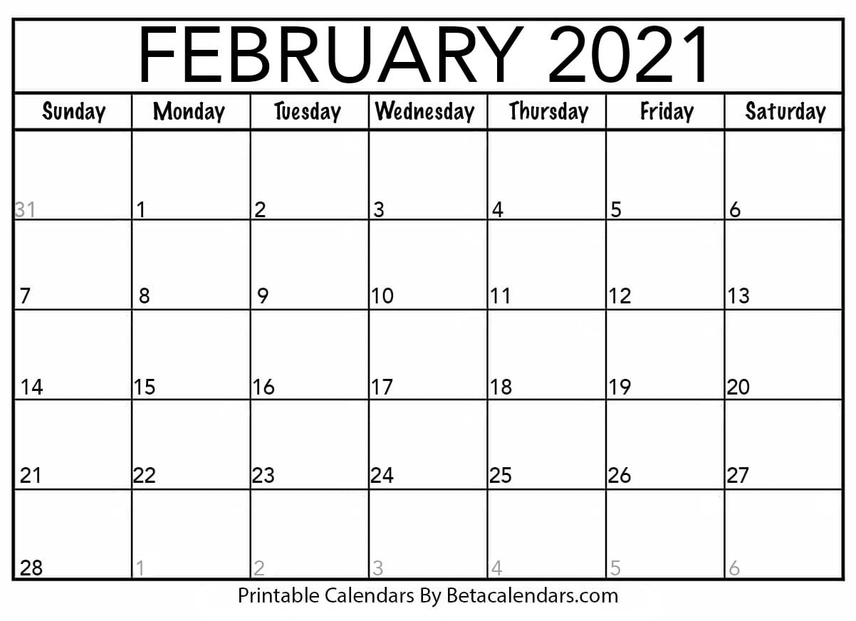2021 Calendar That Shows Only Monday Through Friday