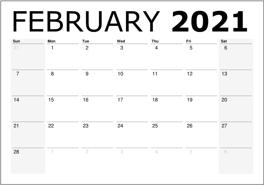 2021 Printable Monthly Calendar With Holidays   Free