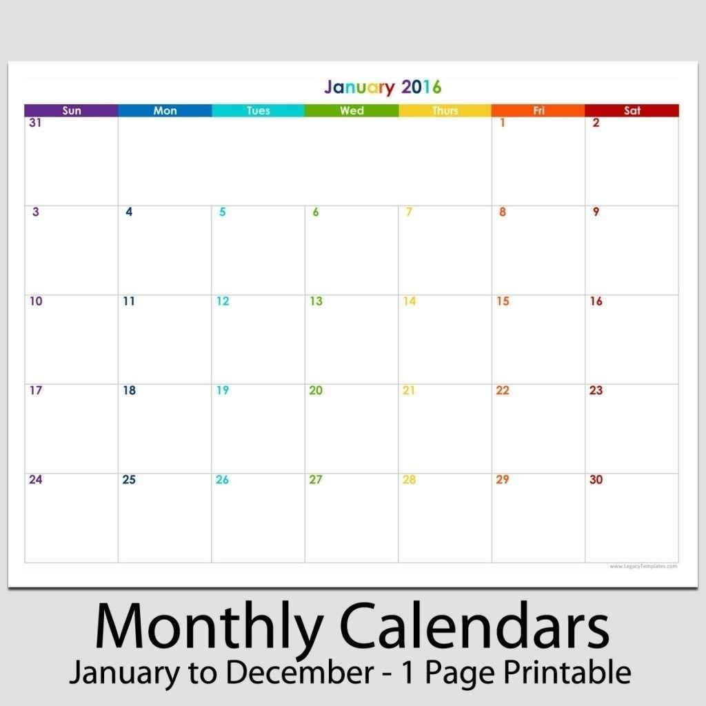 8 1/2 X 11 Blank Calendar Printable | Calendar Template 2021