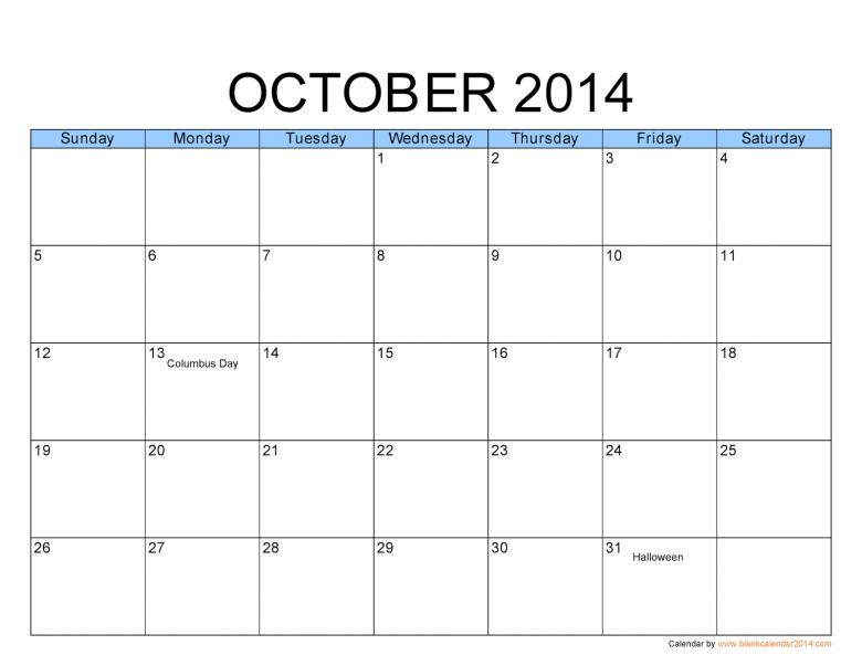 Big Grid Printable Calendars :-Free Calendar Template