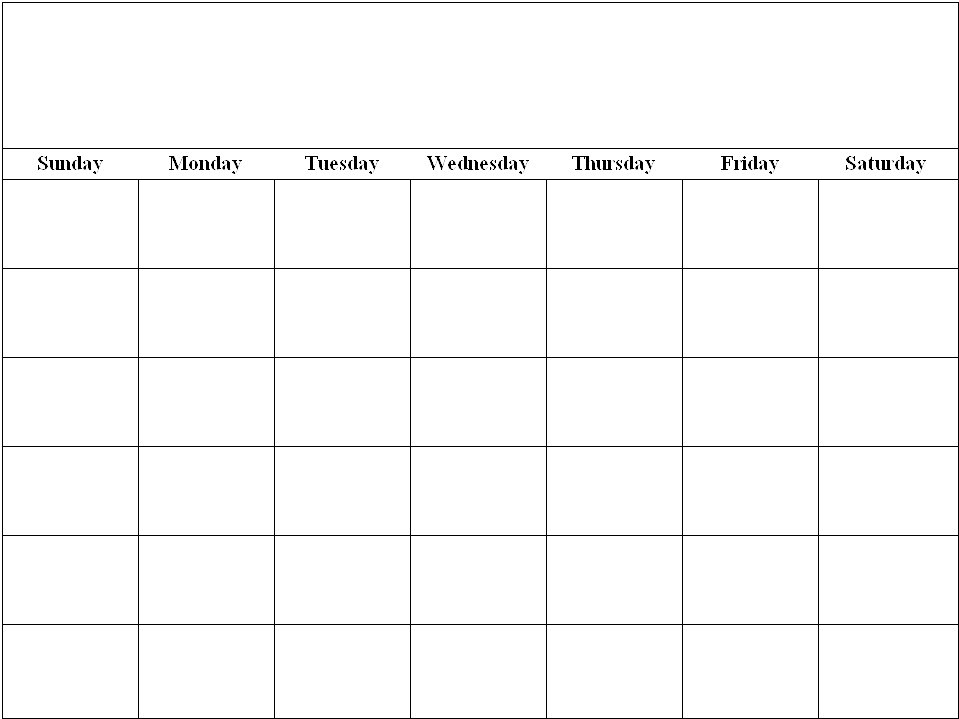 Blank Calendar - 8 1/2 X 11 To Print Photo | Calendar