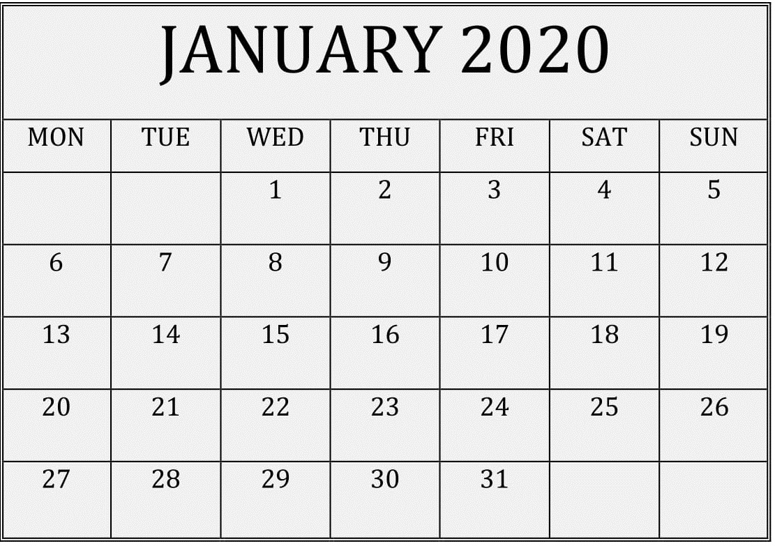 Collect 2020 Free Printable Monthly Calendars You Can Edit