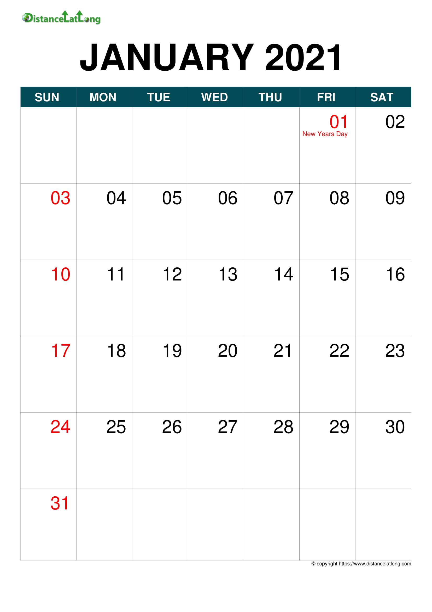 Free 12 Month Word Calendar Template 2021 / Printable
