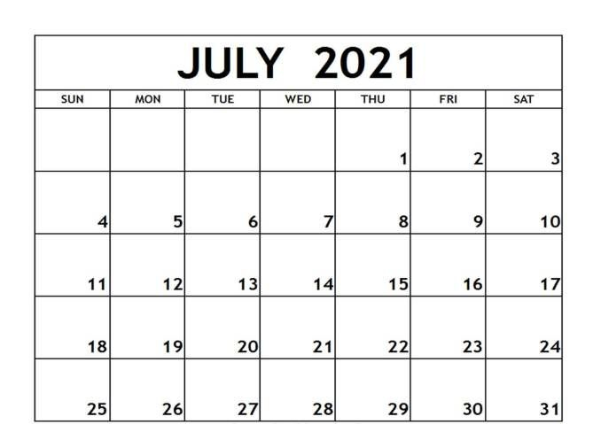 Free 2021 Monthly Calendar With Holidays Pdf, Word, Excel