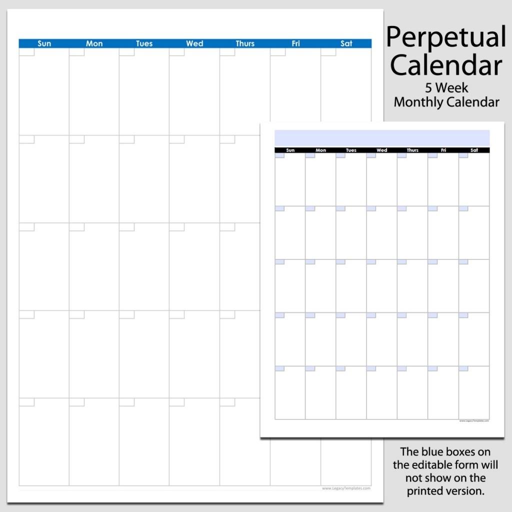 Free Blank Calendar Page 8 1/2 By 11 | Calendar Template 2021