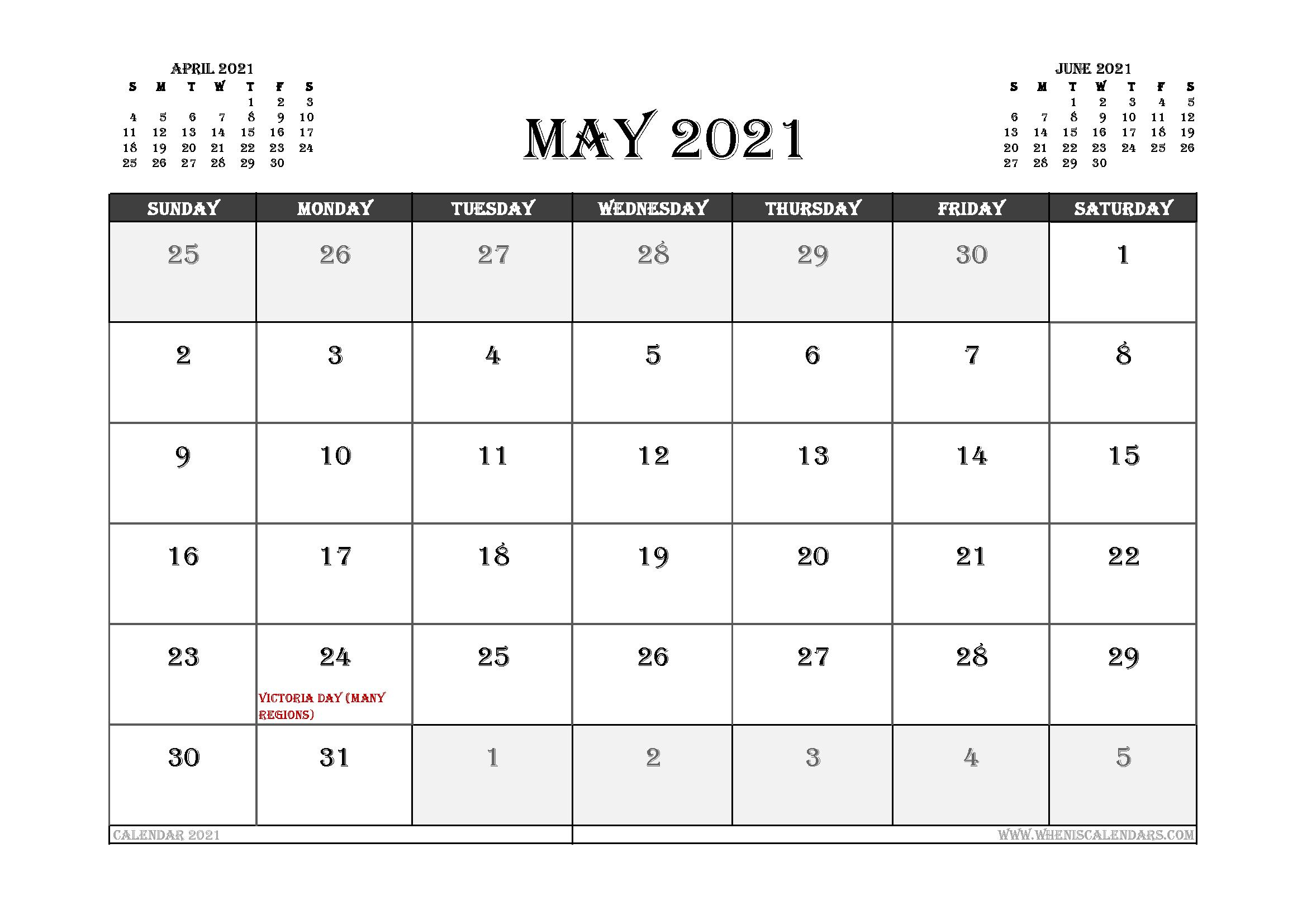 Free Download Canadian 2021 Calendar / 2021 Calendar With