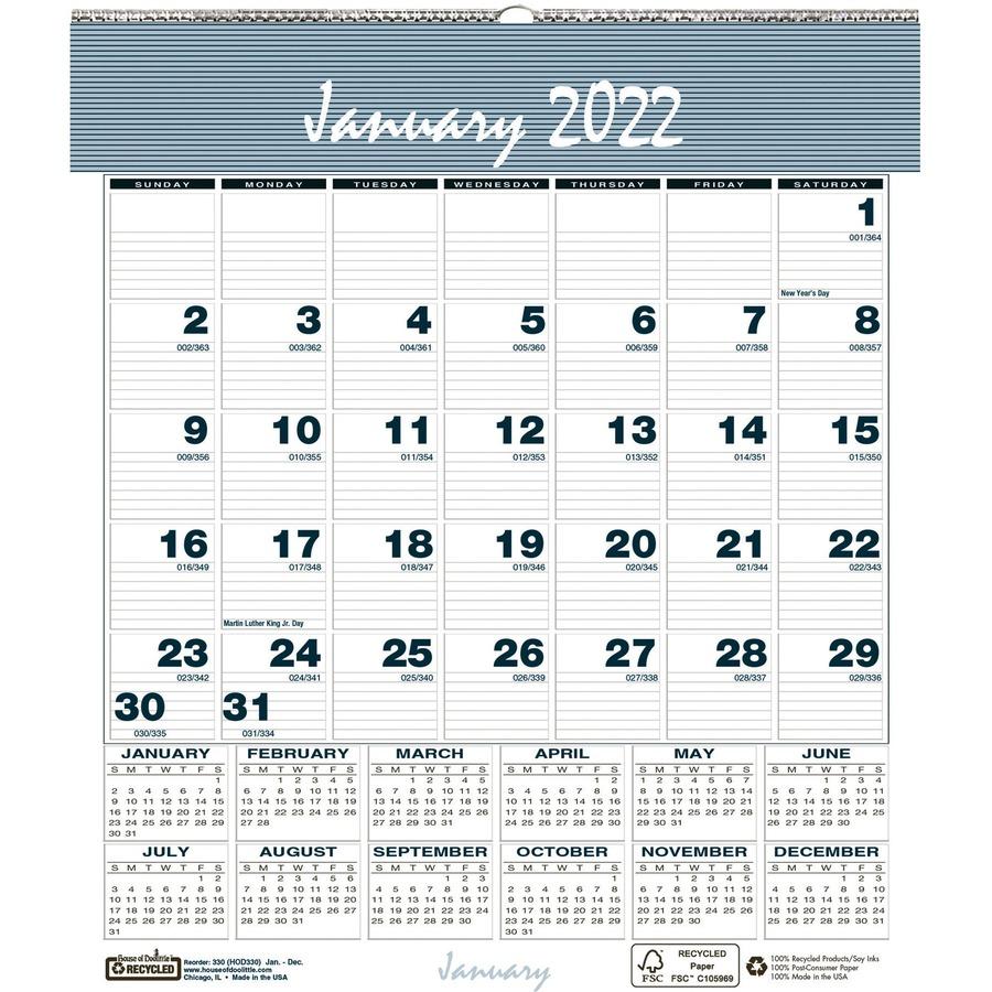 House Of Doolittle Bar Harbor Monthly Wall Calendar