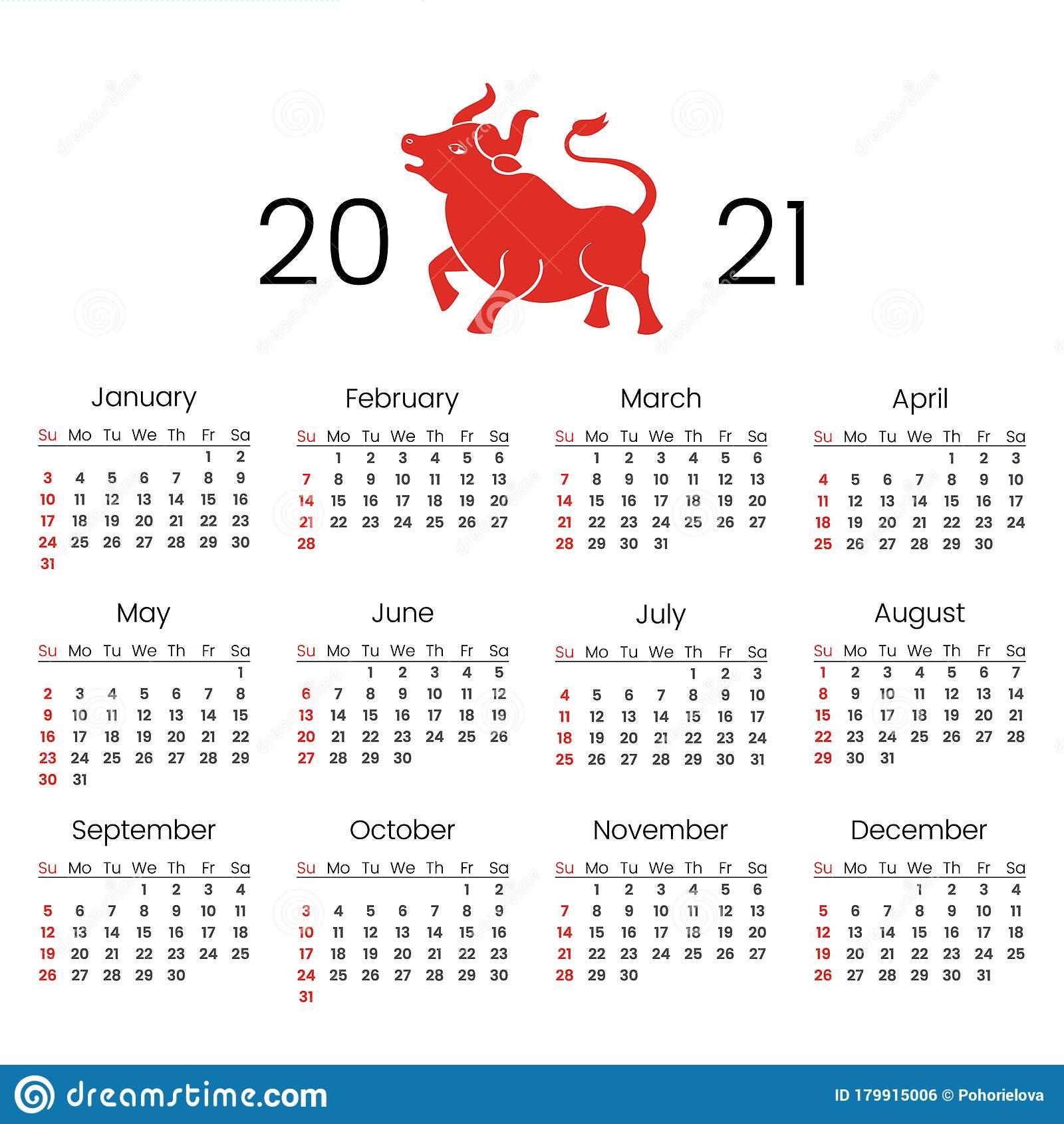 Lunar Calendar 2021 Free Printable : 2021 Lunar Calendar