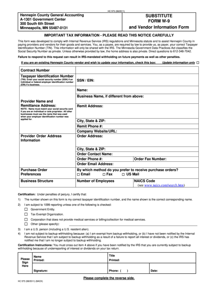 Minnesota W 9 2020 Fill Out And Sign Printable Pdf