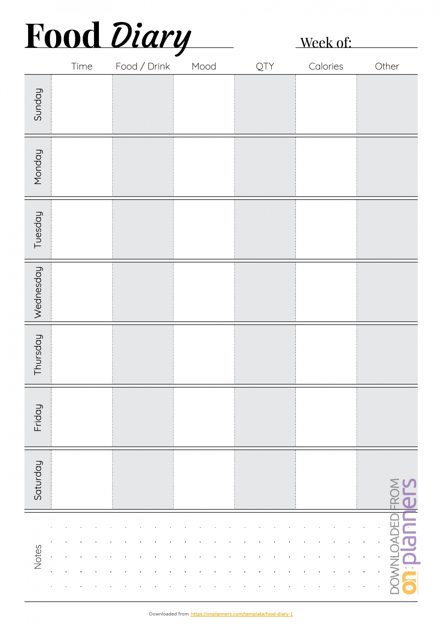 Monday Through Friday Calendar Pdf   Ten Free Printable
