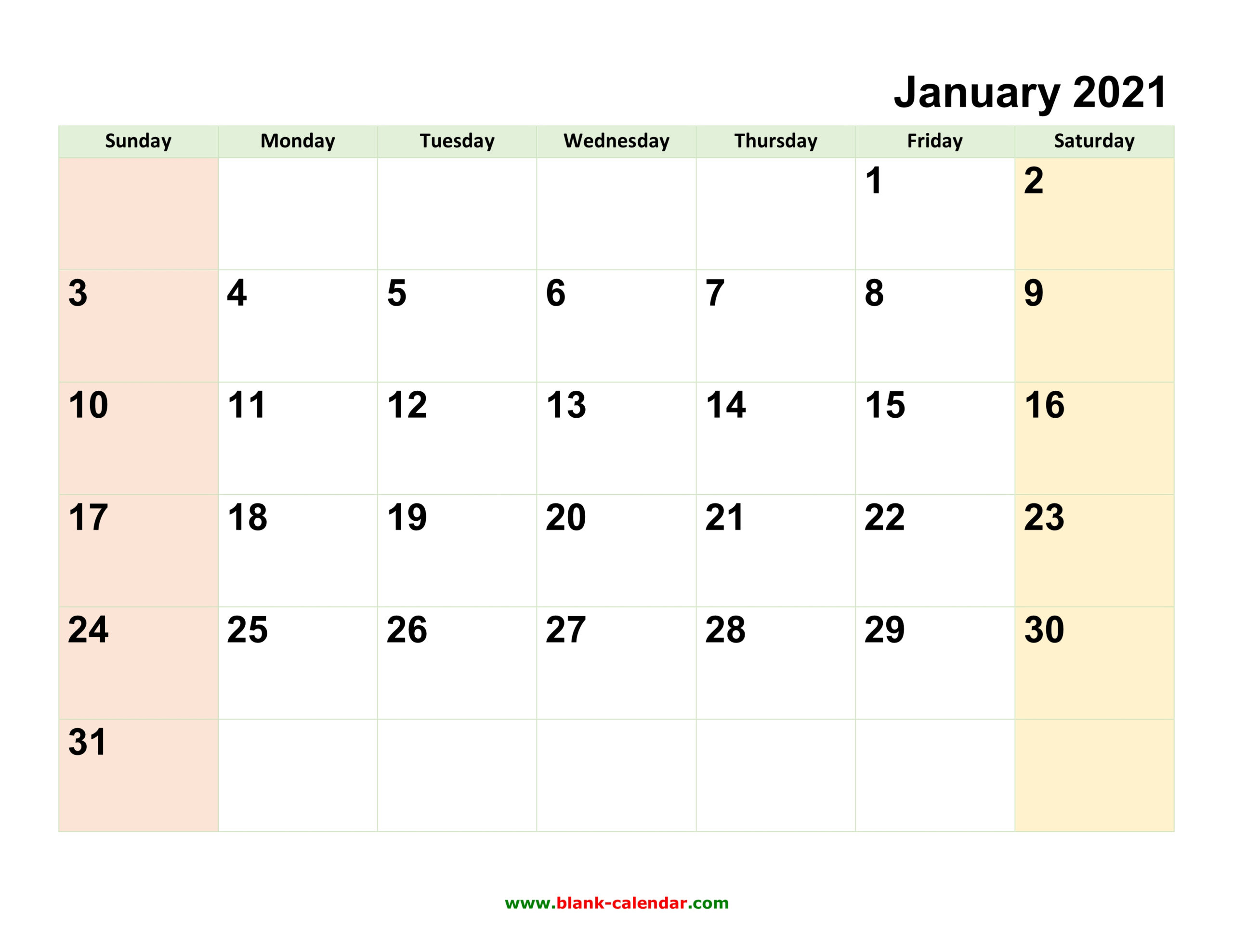 Monthly Calendar 2021   Free Download, Editable And Printable