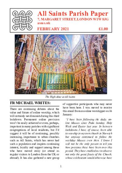Parish-Paper-February-2021 | All Saints Margaret Street