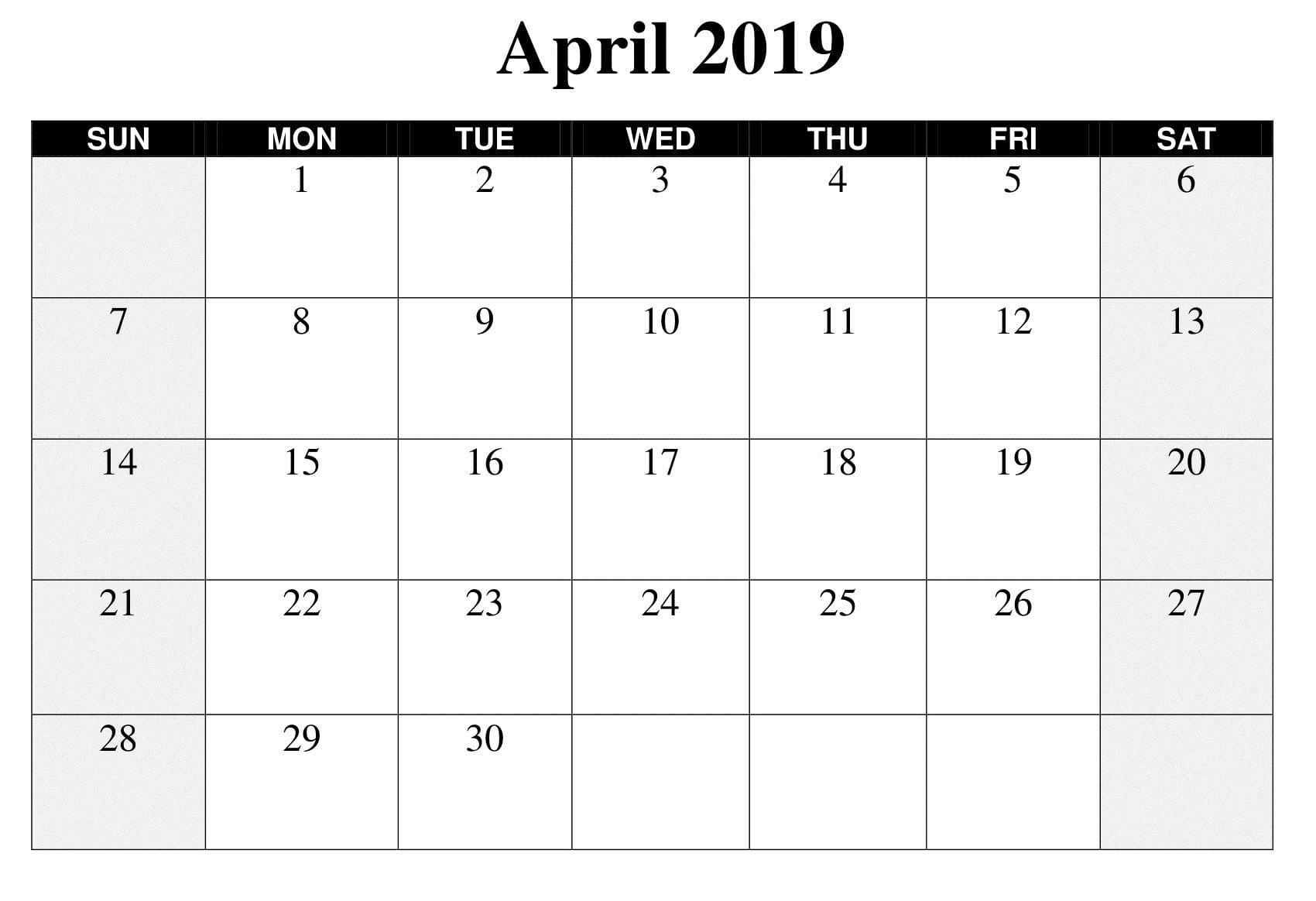 Perfect Large Square Calendar Template