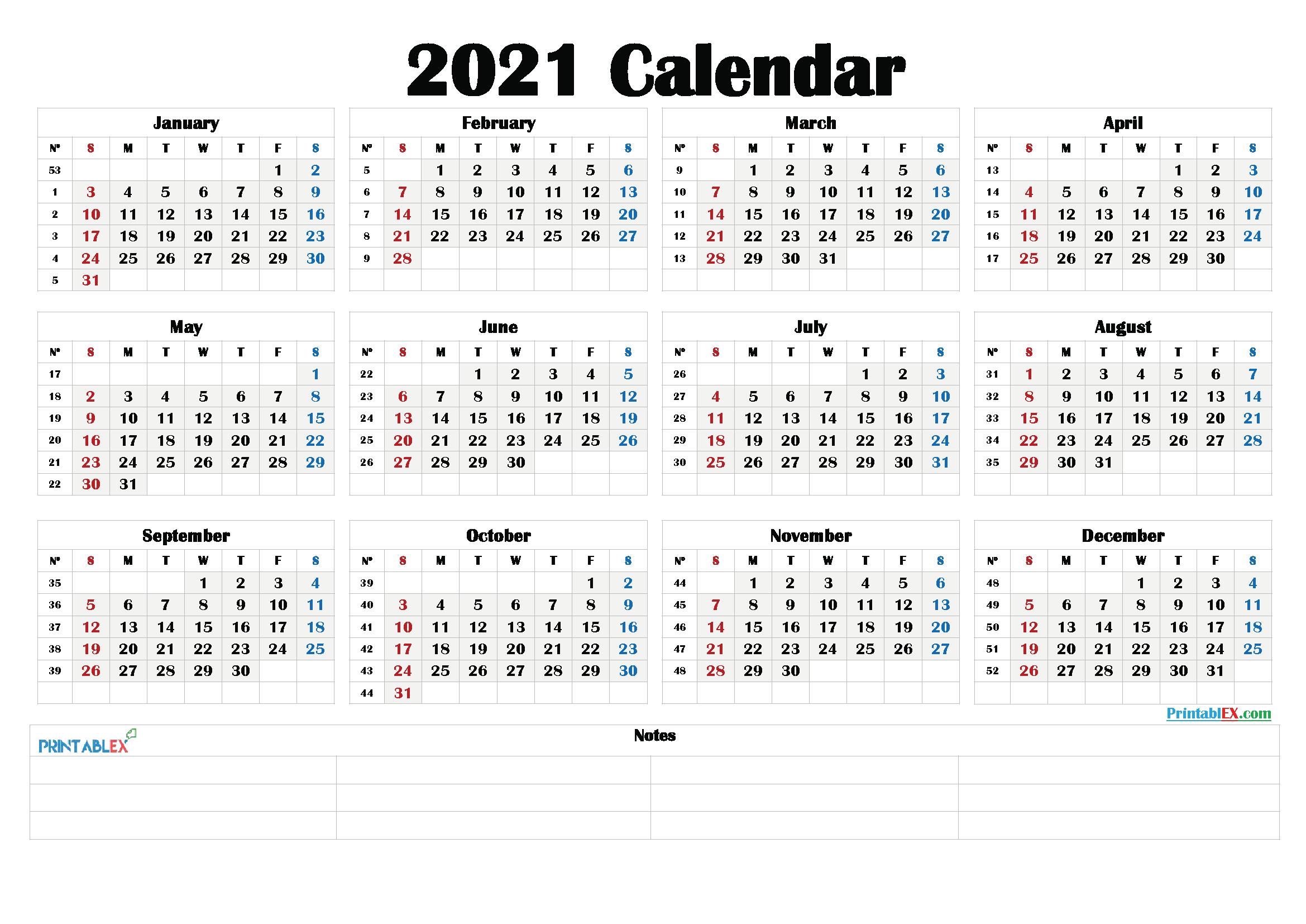 Printable 2021 Calendar By Month - 21Ytw192   Calendar