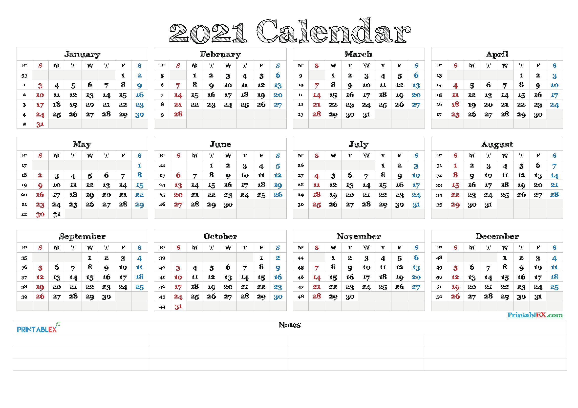 Printable 2021 Calendar With Holidays By Month   Free