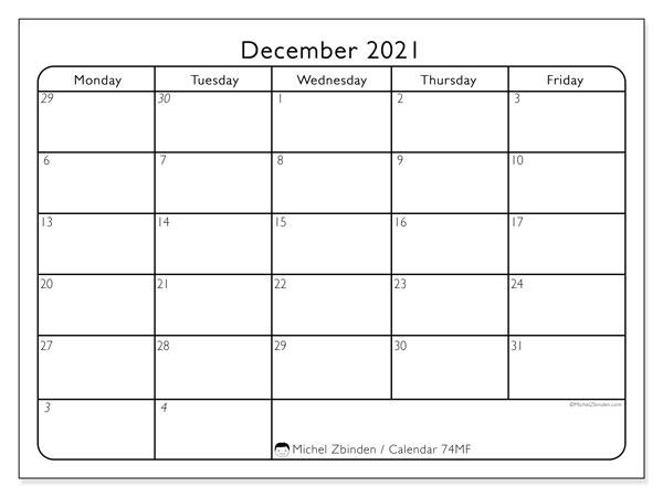 "Printable 2021 Calendars ""Sunday - Saturday"" - Michel"