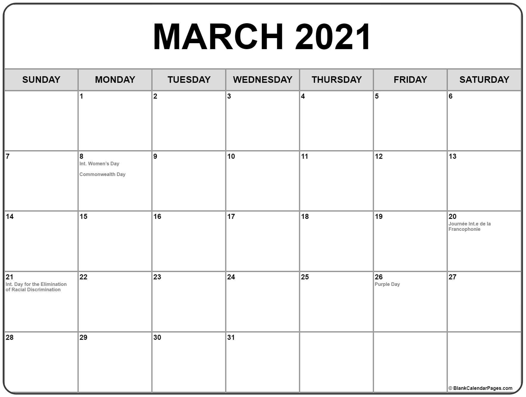 Printable Calendar 2021 Canada Full   Free Printable