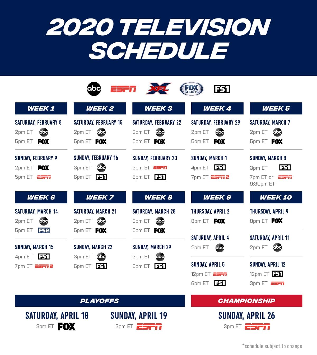 Printable Nfl Schedule For 2019 2020 - Calendar