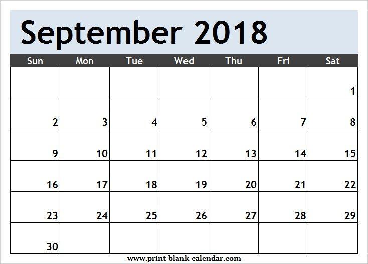 September 2018 Calendar Schedule | Calendar Printables